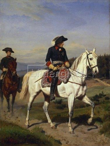 Johann Emil Hünten: Friedrich der Große vor Schweidnitz. Um 1865