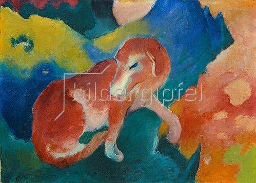 Franz Marc: Roter Hund. 1911