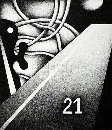 Ludwig Gebhard: Blatt mit der Nummer 21. 1977