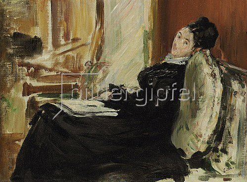Edouard Manet: Lesende junge Frau. 1875