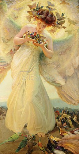 Franz Dvorak: The Angel of the Birds. 1910