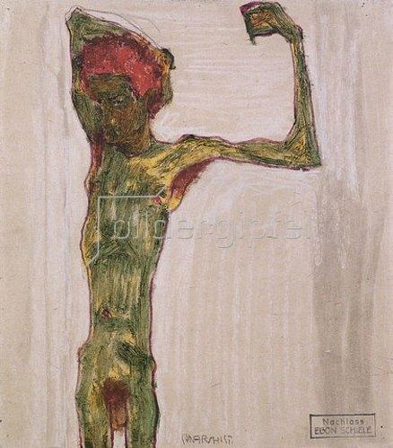 Egon Schiele: Der Anarchist. Um 1909-10