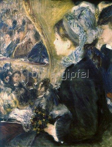 Auguste Renoir: Im Theater (La Première Sortie). 1876-77