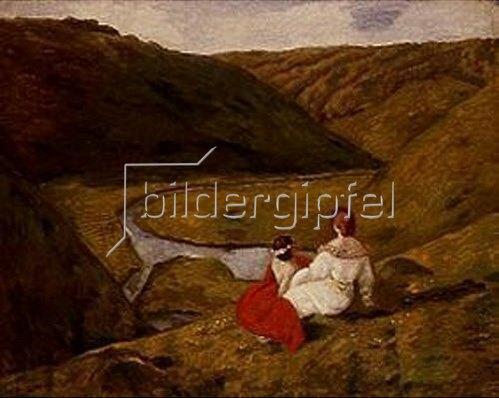 Béla Iványi-Grünwald: Im Tal. (Zwischen Felsen.) 1900.