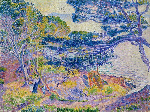 Henri Edmond Cross: Küstenlandschaft (Le cap Layet, petite version). Um 1904.