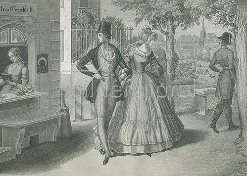 Carl Geiger: Zwei Herzen und ein Schlag.  1840