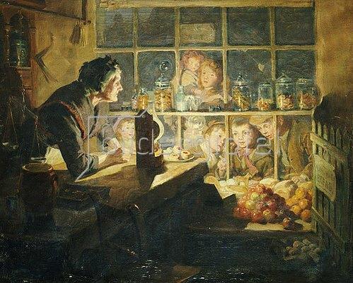 Ralph Hedley: Der Süßigkeitenladen im Dorf. 1897