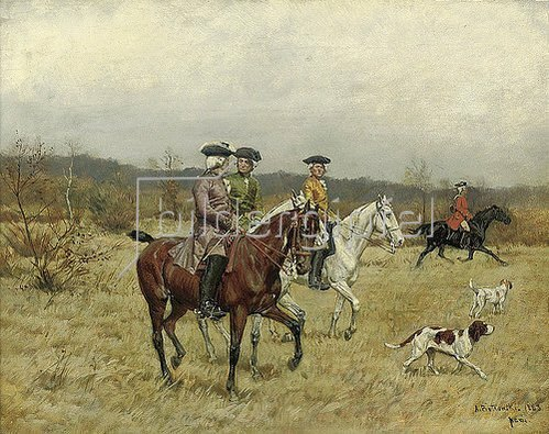 Antonio Piotrowski: Die Falkenjagd. 1883