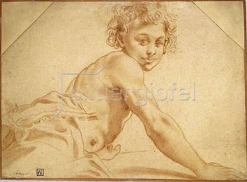 Annibale Carracci: Junge, über seine Schulter schauend.