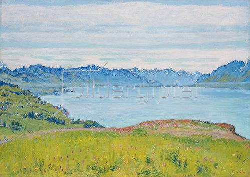 Ferdinand Hodler: Landschaft am Genfer See. 1907