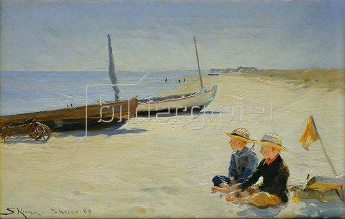 Peter Severin Kroyer: Jungen am Strand von Skagen. 1893