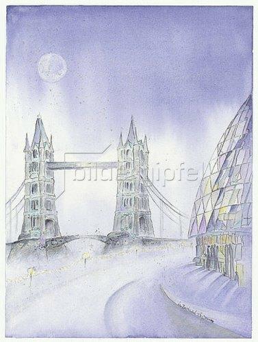 Annette Bartusch-Goger: England - London: Tower Bridge und City Hall. 2009