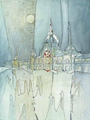 Annette Bartusch-Goger: Ungarn - Budapest:  Heldenplatz im Winter. 2011