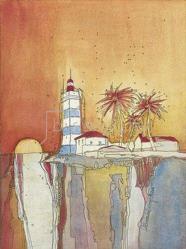 Annette Bartusch-Goger: Portugal, Cascais: Leuchtturm. 2011