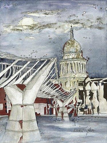 Annette Bartusch-Goger: England, London: Millennium Bridge. 2011