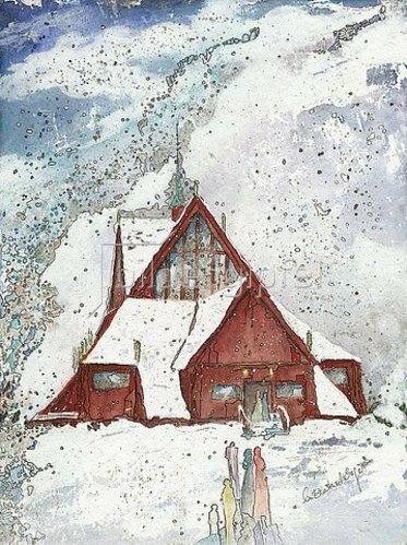 Annette Bartusch-Goger: Schweden, Kirche von Kiruna. 2011