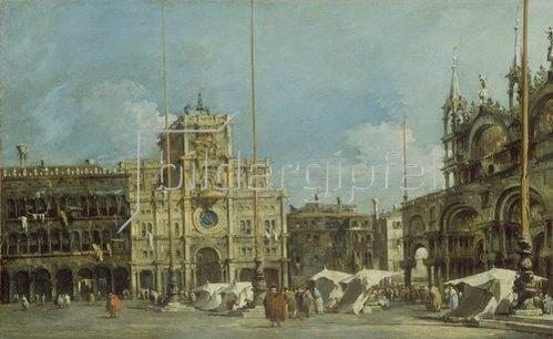 Francesco Guardi: Der Uhrturm am Markusplatz. Um 1775.