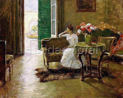 William Merrit Chase: Erinnerungen - In der italienischen Villa.