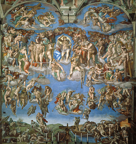 Michelangelo: Das jüngste Gericht. 1534-41