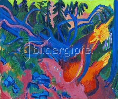 Ernst Ludwig Kirchner: Entwurzelter Baum. Um 1923