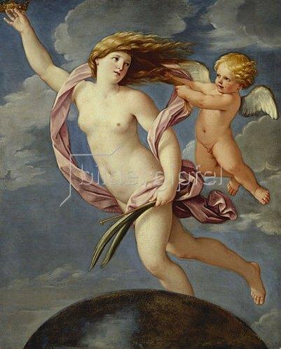 Guido Reni: Fortuna mit einer Krone.