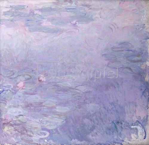 Claude Monet: Seerosen in blassen Farben. Um 1917-25