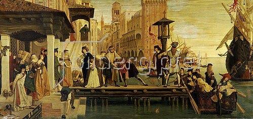 James Jacques Tissot: Die Abfahrt des verlorenen Kindes von Venedig. 1863