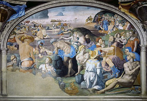 Agnolo Bronzino: Zug durchs rote Meer. 1540-1545.