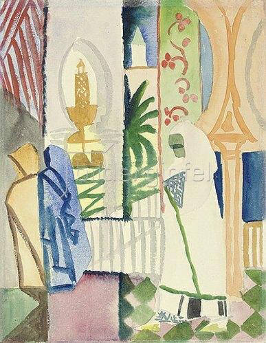 August Macke: In der Tempelhalle. 1914