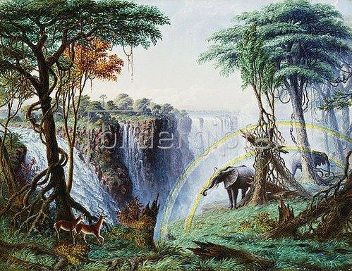 Thomas Baines: Der Mosi-oa-Tunya oder: Die Victoria Falls, Zambesi River. 1874