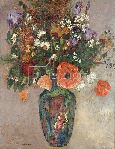 Odilon Redon: Blumenstrauß in einer Vase.