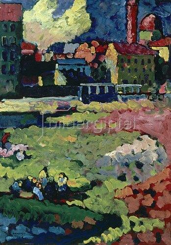 Wassily Kandinsky: Vor der Stadt. 1908 (München)