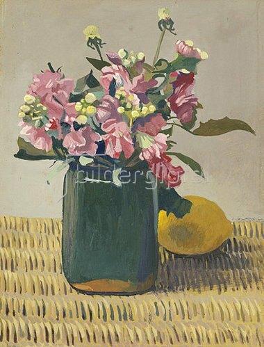 Felix Vallotton: Blumenstrauß und eine Zitrone. 1924
