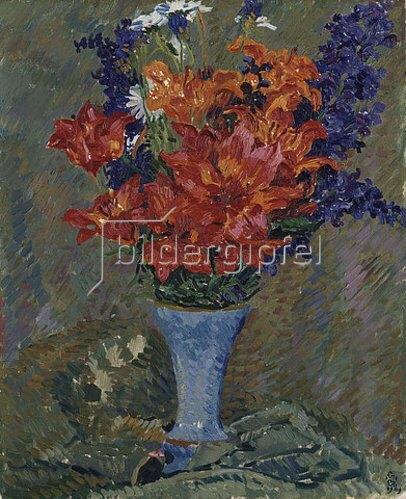 Giovanni Giacometti: Feuerlilien (Feldblumenstrauss).
