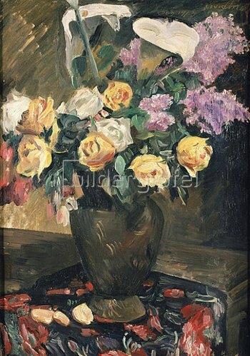 Lovis Corinth: Rosen, Flieder und Kalla. 1913
