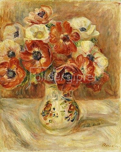 Auguste Renoir: Stillleben mit Anemonen.