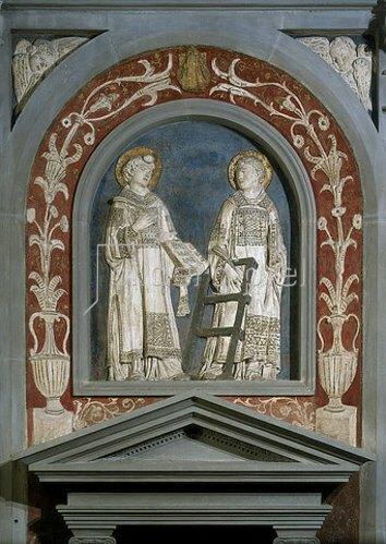 Donatello: Der heilige Laurentius und der heilige Stephanus.  Um 1440