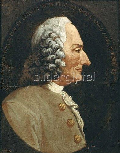 Italienisch: Portrait des Komponisten Jean Philip Rameau.