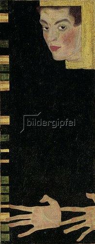 Egon Schiele: Selbstbildnis mit gespreizten Fingern. 1909