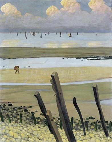 Felix Vallotton: Das Meer bei Ebbe, Villerville. 1922