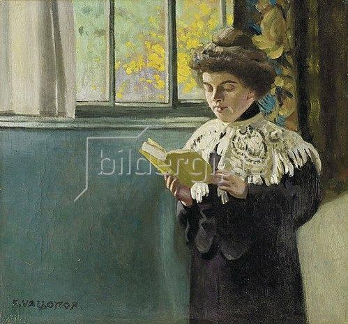 Felix Vallotton: Lesende am Fenster. Um 1904