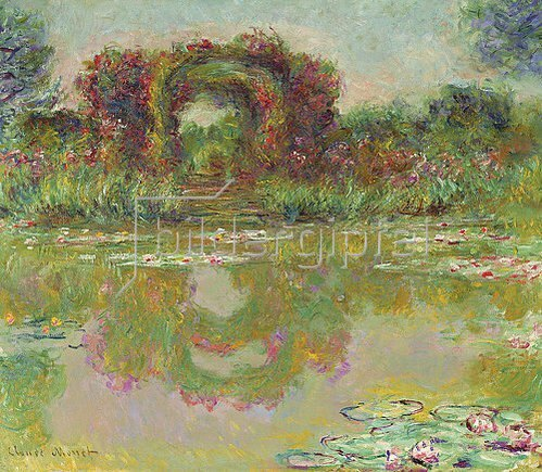 Claude Monet: Der Rosenbogen in Giverny (Les arceaux de roses). 1913