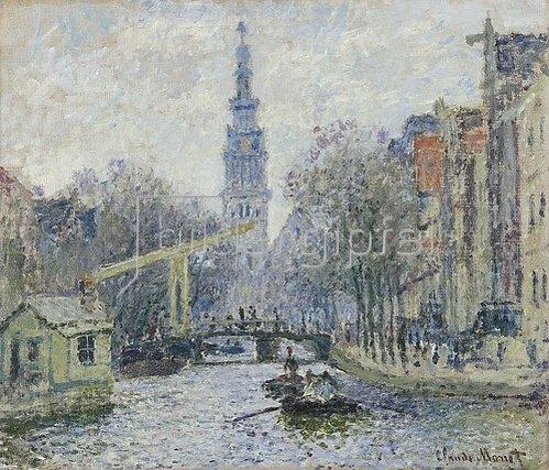 Claude Monet: Ansicht von Amsterdam mit Kanal. 1874