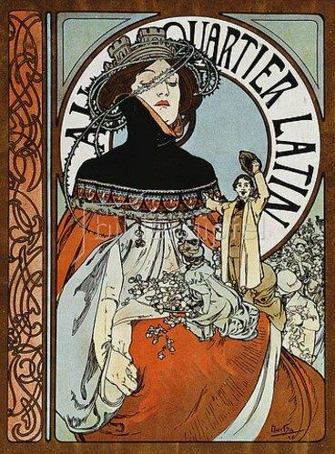 Alfons Mucha: Au Quartier Latin. 1898