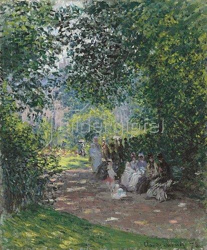 Claude Monet: Im Park Monceau (Au Parc Monceau). 1878