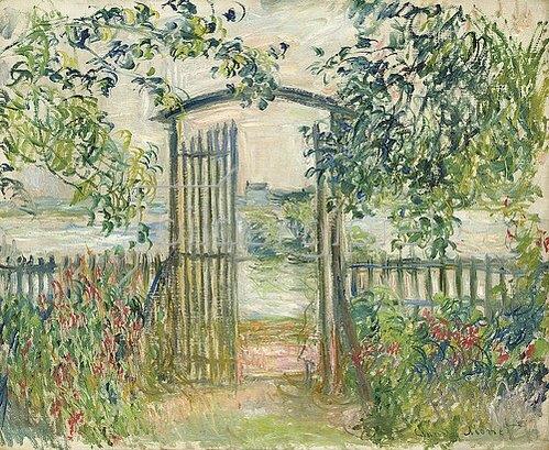 Claude Monet: Das Gartentor in Vetheuil (La Porte du jardin à Vetheuil). 1881