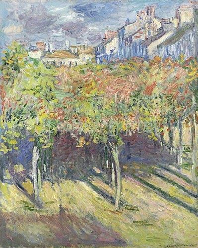 Claude Monet: Lindenbäume in Poissy (Les tilleuls à Poissy). 1882