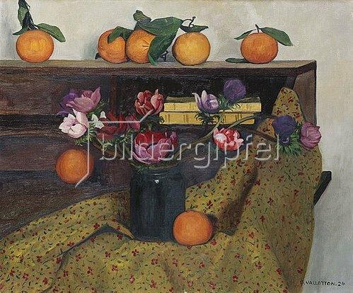 Felix Vallotton: Stillleben mit Anemonen und Orangen. 1924