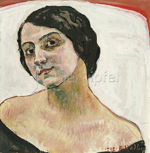 Ferdinand Hodler: Bildnis einer Frau mit braunem Haar. 1913