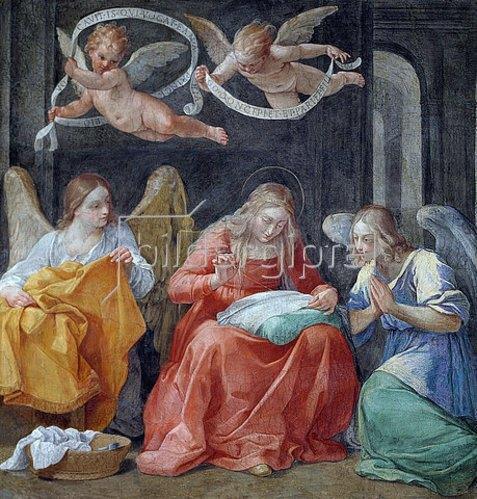 Guido Reni: Die nähende Jungfrau. 1610